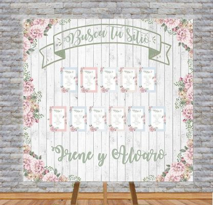 Panel Seating plan Vintage personalizado