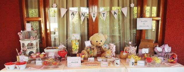 Buffet de golosinas de Anita