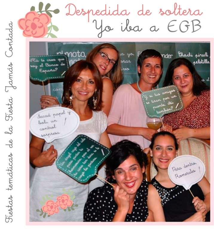 La novia iba a E.G.B Fiestas personalizadas en LFJC