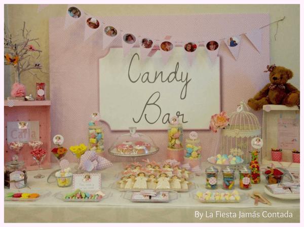 El Candy Bar de Carla para el día de su Comunión