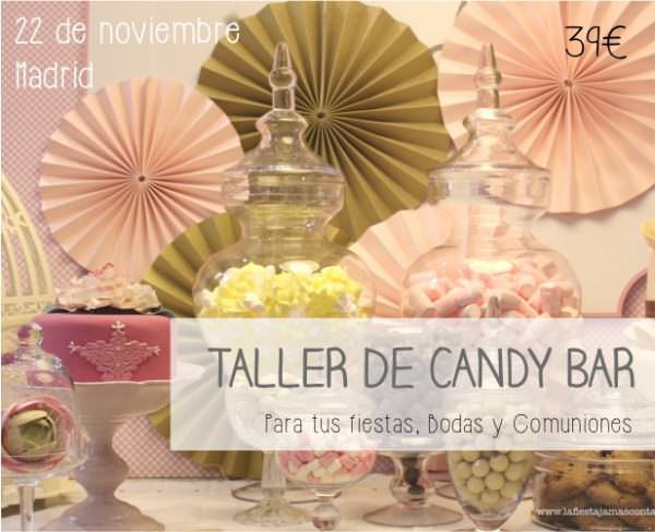 """Cursos de eventos. Taller de candy bar"""