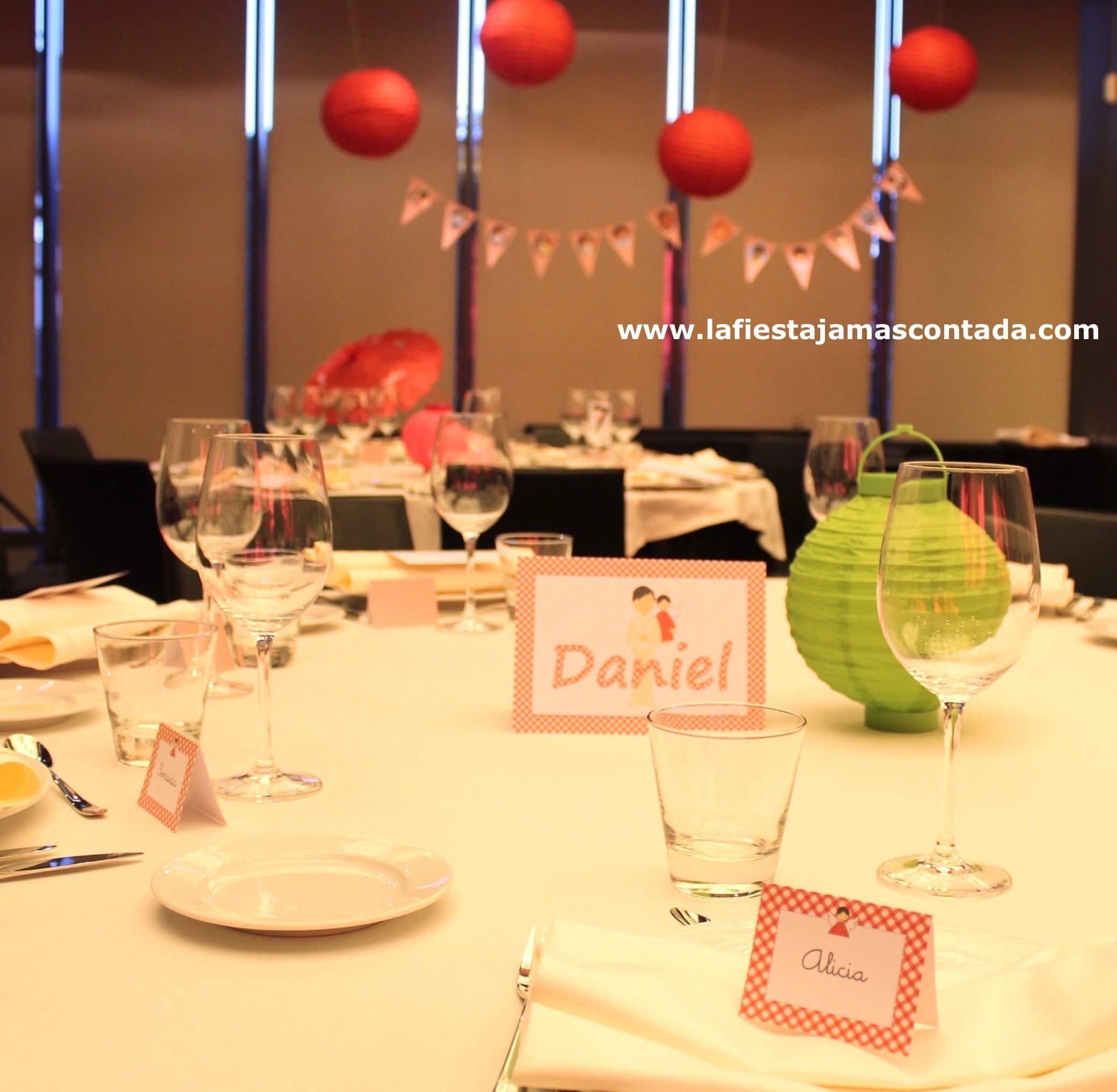 decoración comunión mesa