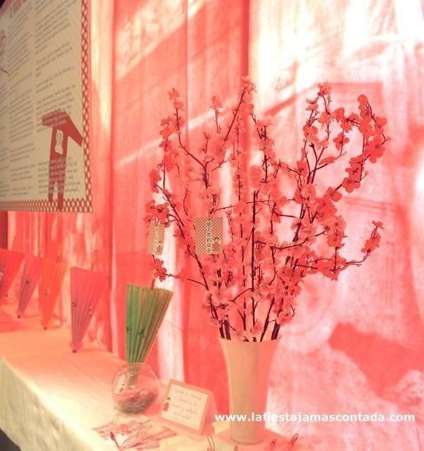 decoración oriental comunión