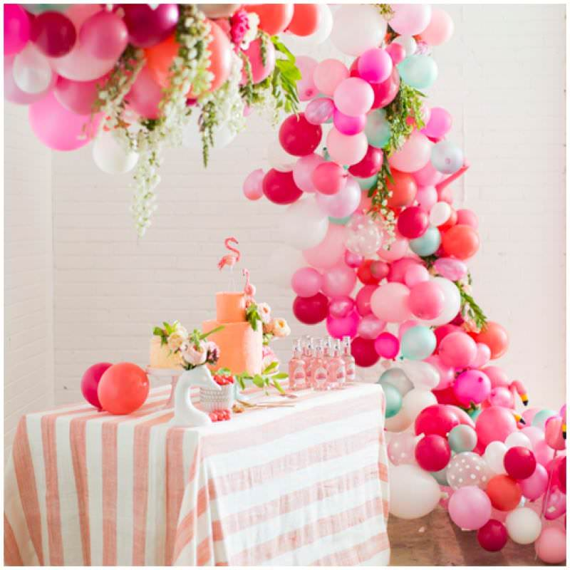 Decoraci n con globos for Decoracion con plantas para fiestas