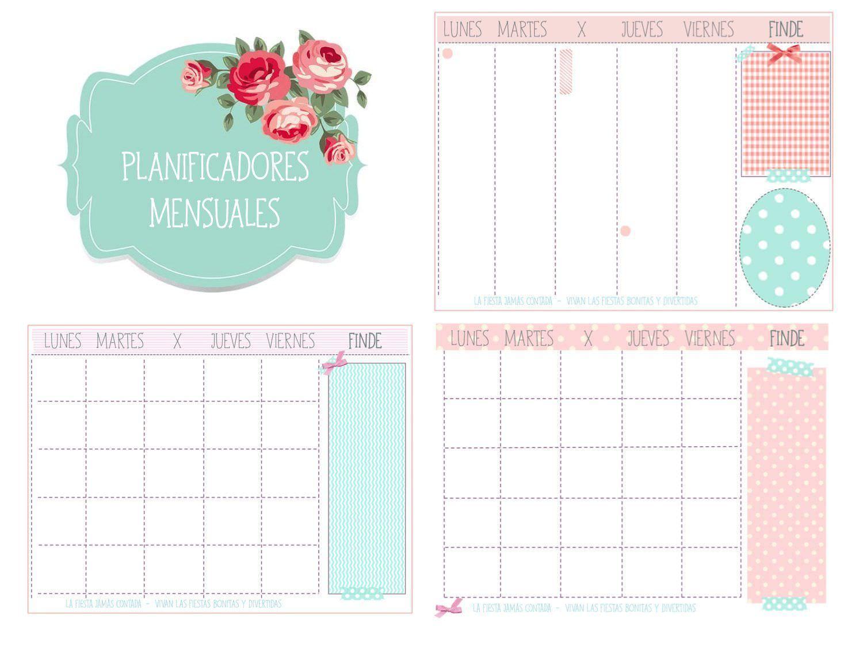 planificadores mensuales