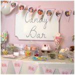 Candy bar de la comunión de Mencia