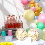 Comunión con globos – La comunión de María Eugenia