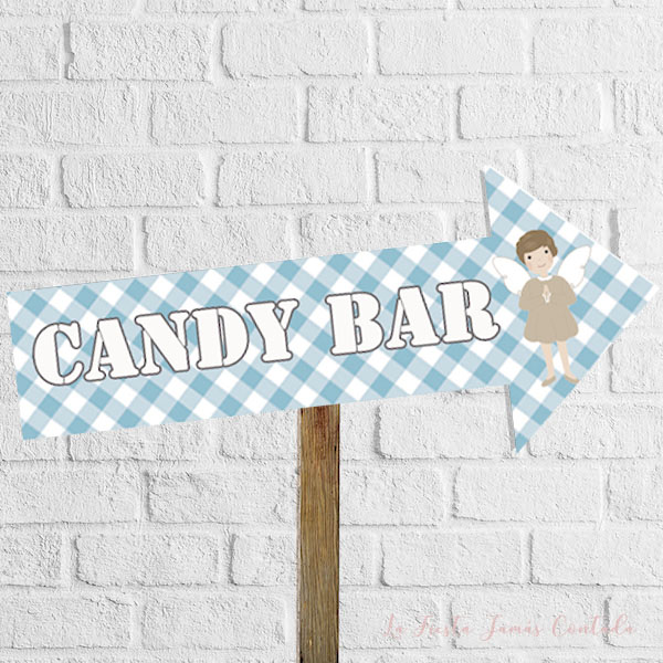flecha indicativa de candy bar